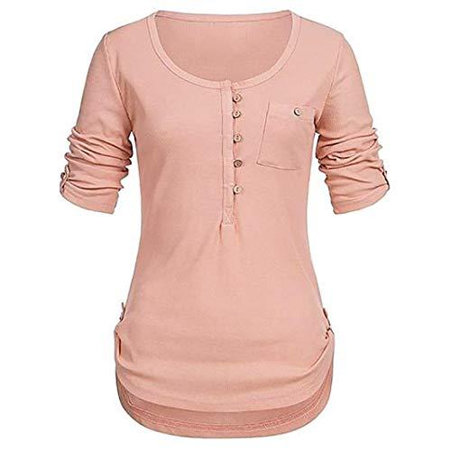 IMJONO Damen Blusen mit Spitze Bluseshirt Hemdblusen Damen Mode Frühling Langarmshirts Schöne Oberteile für Damen Spitzenbluse Grün(EU-44/CN-3XL,Orange)