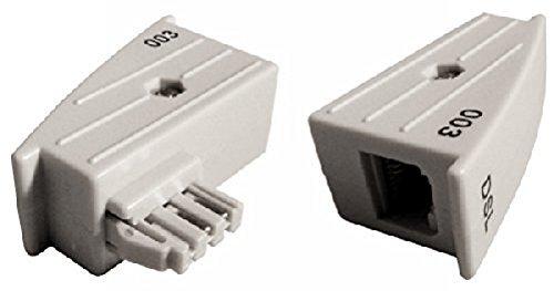 meeboo TAE RJ45 DSL Adapter für AVM Fritz!Box o. Speedport - 4/5 belegt, Nicht 1/8