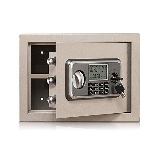 Cajas de seguridad Caja fuerte digital antirrobo contra incendios, caja fuerte electrónica de acero con teclado, 2 teclas de anulación manual que protegen el dinero, las joyas y los pasaportes para e