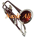 Trombone Bb Pitch Hardcase and Mouthpiece By Nasir Ali (NICKEL + RED)