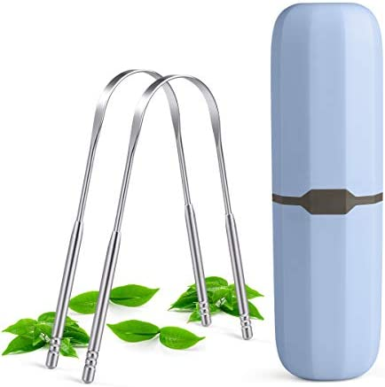 Tongue Scraper bedace Tongue Cleaner For Adults 2pack Tounge Scraper Cleaner Stainless Steel product image