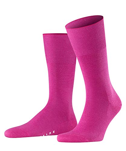 FALKE Socken Airport Schurwolle Baumwolle Größe 39-50 Herren schwarz weiß viele weitere Farben verstärkte Herrensocken ohne Muster atmungsaktiv dick einfarbig 1 Paar