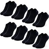 Occulto 8 Paar Kinder Kids Sneaker Socken weiß | schwarz | bunt für Mädchen und Jungen in verschiedenen Farben & Größen 23-38 (31-34, Schwarz)