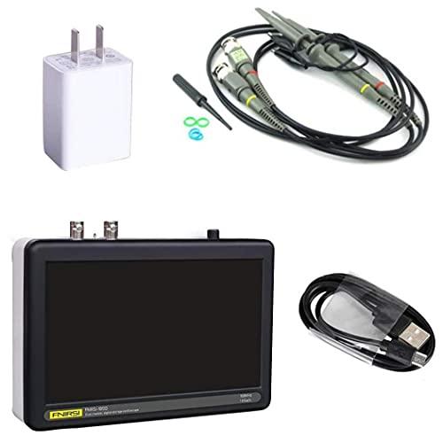 Osciloscopio de tableta, osciloscopio digital de pantalla táctil 1 GS/S LCD Pantalla táctil Tableta Osciloscopio 100MHz ancho de banda negro
