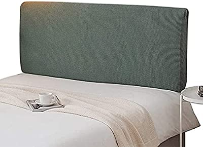 Bed Headboard King Size Headboard Slipcover Single Bed/Double Bed Headboard Cover Stretch Headboard Dustproof Protector Cover Grey (Color : C, Size : 180 * 65CM)