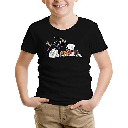 T-Shirt Enfant Noir One Piece parodique Brook : Le ami du Chien ! (Parodie One Piece)