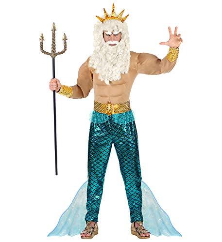 Widmann - Poseidon Wassermann Neptun Komplett-Kostüm