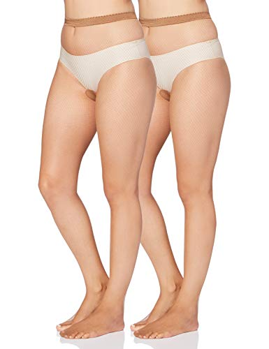 Iris & Lilly by Wolford Medias Mujer, Pack de 2, Beige (Miel), XS, Label: XS