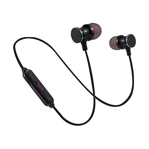 Auriculares Bluetooth de Metal para Sony Xperia L3 - Smartphone inalámbrico con Mando a Distancia y Sonido Manos Libres - Universales, Color Negro