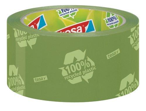 tesapack Eco & Strong, grün (bedruckt) 66m:50mm