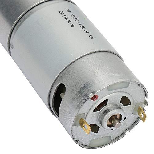 家電製品の学校プロジェクト用ワット数12VDCモーター(Reduction ratio 270, no-load speed 53)