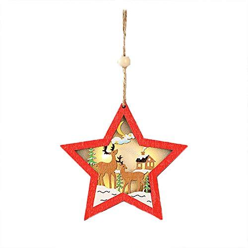 BBQQ - Decoración navideña de madera para decoración navideña