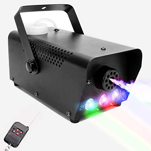 Nebelmaschine, MORFIT 500W Rauchmaschine mit 2000CFM Fog 3 Stage LED Farblichtern, Kabelgebundene und Drahtlose Ferngesteuerte Nebelmaschine für Halloween-Hochzeitsfeier und Bühneneffekt