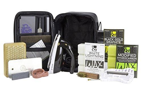 Demon Podium Ski Snowboard Tune Kit with Iron and Premium Universal Wax Kit