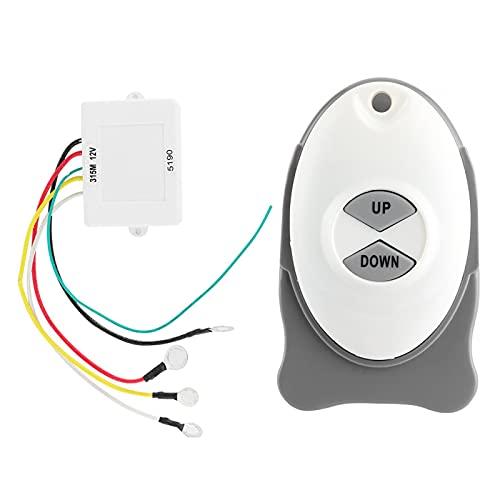 Molinete remoto de ancla Interruptor inalámbrico Controlador de ajuste de vela para barco 12V Molinete de ancla Receptor de interruptor inalámbrico Controlador de ajuste de vela impermeable Acceso par