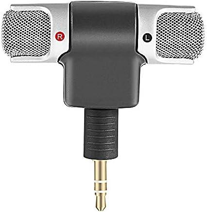 Fantasyworld Mini Microfono Stereo Digitale Mini Microfono da 3,5 mm Mini Jack per PC Notebook Portatile Registrazione Stereo Canale Destro e Sinistro - Nero - Trova i prezzi più bassi