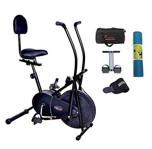 Lifeline Exercise Air Bike with Back Seat   Bundles with the Bag,...