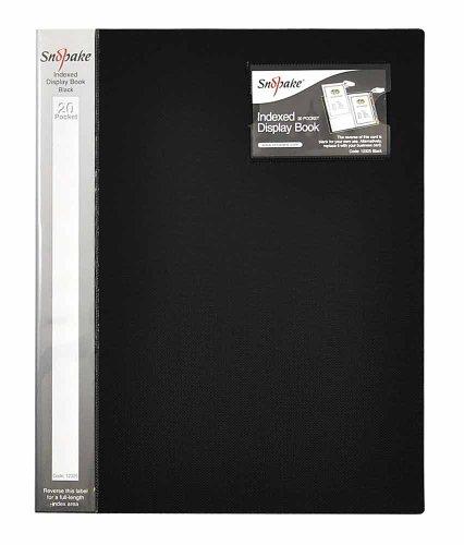 Snopake A4 Sichtbuch mit Register (je 20 Hüllen) 5 Stück schwarz