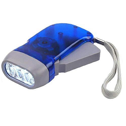 Hand Press Taschenlampe, Mini-Taschenlampe Licht Für Camping Wandern Outdoor Sports Blau