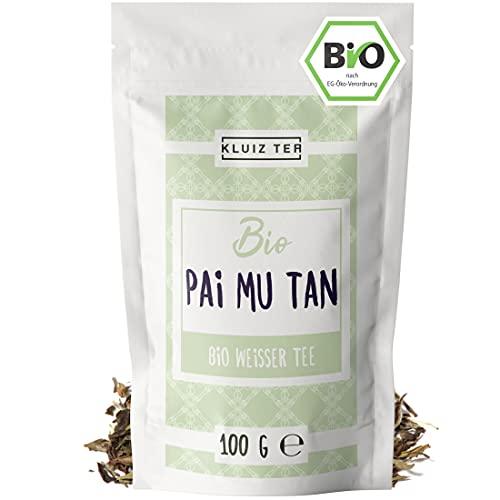 Weißer Tee Bio - Pai Mu Tan I 100 Gramm Weisser tee lose Bio I Organic White Tea by KLUIZ TEA