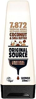 Original Source Moisturising Coconut & Shea Butter Shower Gel 250ml (Pack of 6) - 元のソース保湿ココナッツ&シアバターシャワージェル250ミリリットル x6 [並行輸入品]
