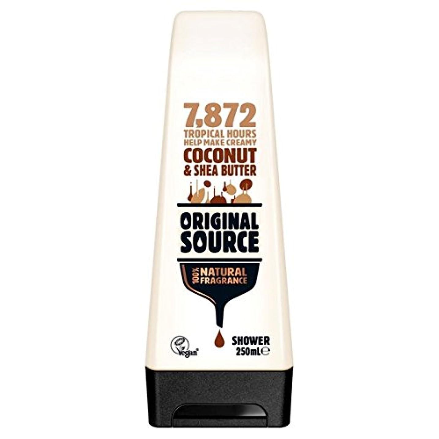 設計図松抵抗Original Source Moisturising Coconut & Shea Butter Shower Gel 250ml (Pack of 6) - 元のソース保湿ココナッツ&シアバターシャワージェル250ミリリットル x6 [並行輸入品]