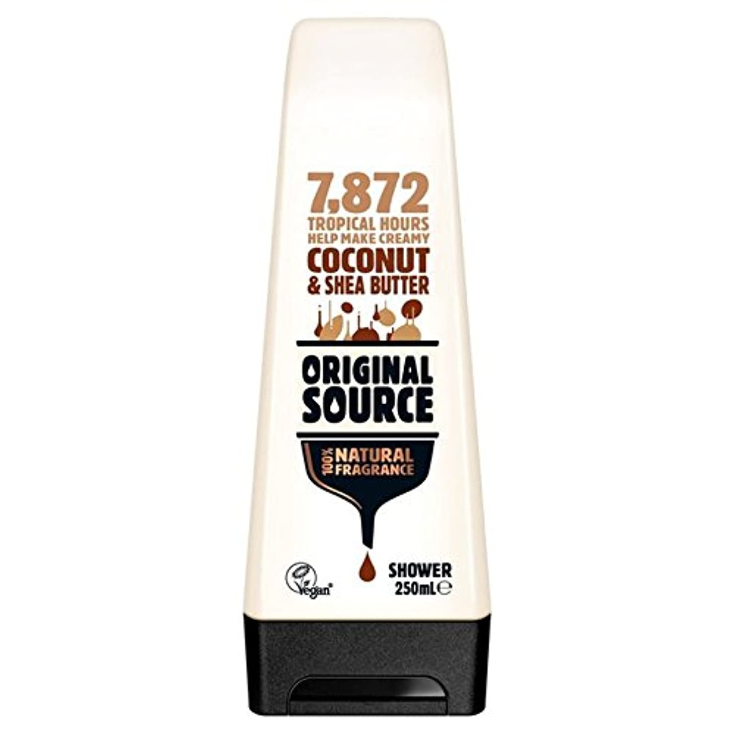 印をつける後者町Original Source Moisturising Coconut & Shea Butter Shower Gel 250ml - 元のソース保湿ココナッツ&シアバターシャワージェル250ミリリットル [並行輸入品]
