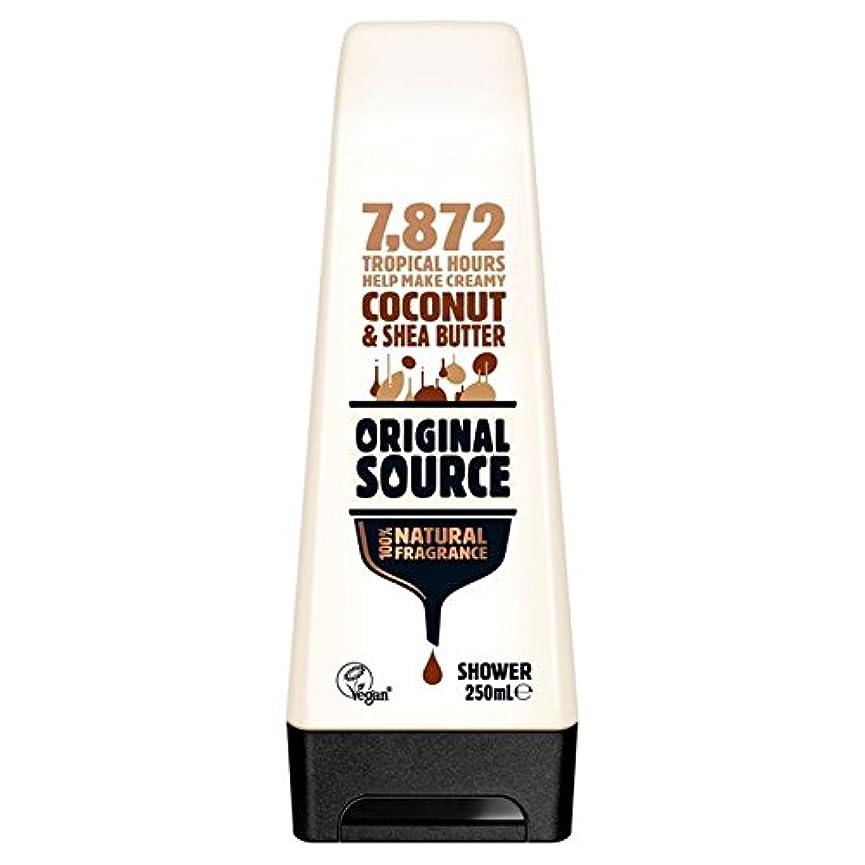 交換評価する減るOriginal Source Moisturising Coconut & Shea Butter Shower Gel 250ml (Pack of 6) - 元のソース保湿ココナッツ&シアバターシャワージェル250ミリリットル x6 [並行輸入品]