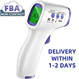 (Expedited Delivery) Forehead Thermometer for Adults, Infrared No Touch Digital Medical Baby Thermometer for Fever, Suitable for Infant Kids Indoor and Outdoor Use with Instant Read