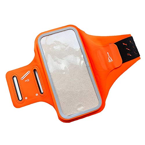 DFVmobile - Professional Cover Chinlon-Lycra Ultra-Thin Armband Sport Walking Running Fitness Cycling Gym for HTC Desire 828 Dual - Orange