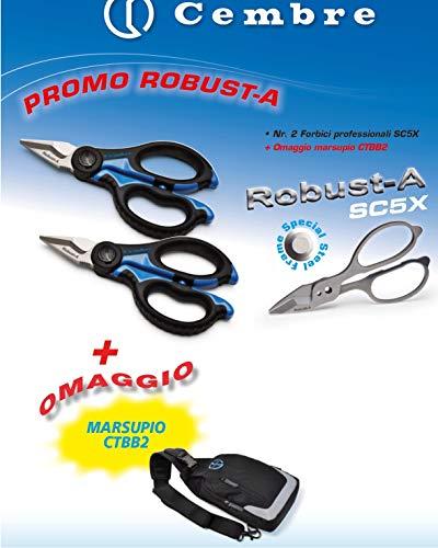 Cembre Promo Robust-a Composto Da 2 Forbici Professionali SC5X + Marsupio Tracolla Spalla Zip CTBB-2