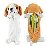 Bolso de la pluma del lápiz de la forma del perro 3D, regalos suaves lindos del juguete de la felpa para los niños (Labrador)