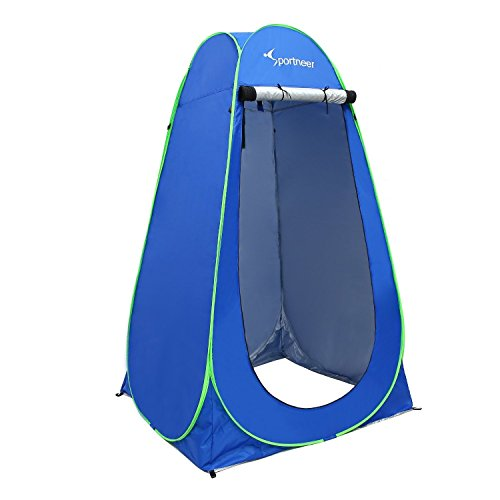 Pop Up Camping Shower Tent, Sportneer Portable Dressing Changing Room Privacy Shelter Tents for Outdoor Camping Beach Toilet and Indoor Photo Shoot with Carrying Bag, 6.25 ft Tall (Blue)