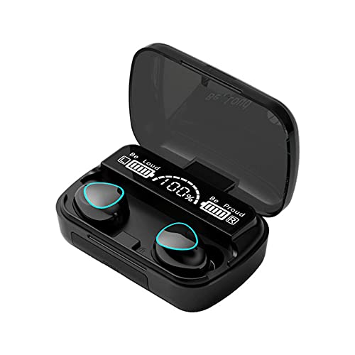 HOLPPO Auriculares Bluetooth 5.1,Caja De Carga De 3500 MAh Auriculares Inalámbricos Táctiles En La Oreja Admite Modo Mono/Doble, Auriculares Deportivos Impermeables, Micrófono HD Incorporado