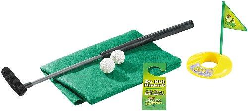 infactory Klo Golf: 7-teiliges Golfspiel-Set für Bad & WC, inkl. Golf-Grün und Türhänger (Toiletten Golf)