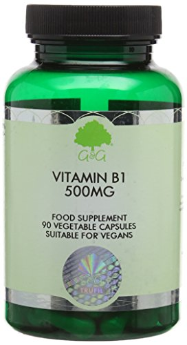 G&G Vitamins 500 mg Vitamin B1 Thiamine Capsules