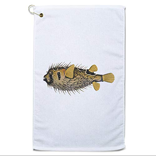 Style In Print Golf Towel Fish Vintage Look B1 Animals Ocean & Sea Life Cotton Bag Accessories White Design Only