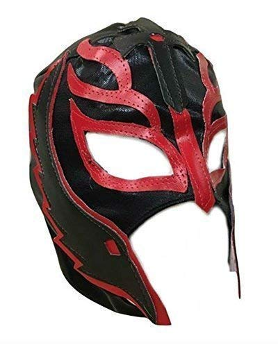 UK Halloween Carnevale Cosplay Nero Wrestling Rey Mysterio Son Of il Diavolo Zip - Bambini per Tutta la Testa Maschera - Costume Travestimento Vestito