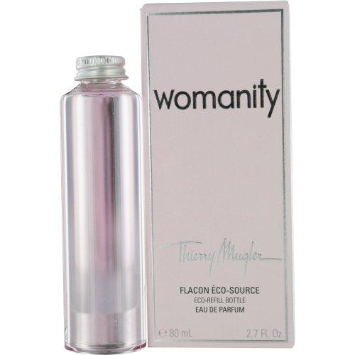 Thierry Mugler Womanity Eau de Parfum Eco Refill Bottle for Women, 2.7 Ounce