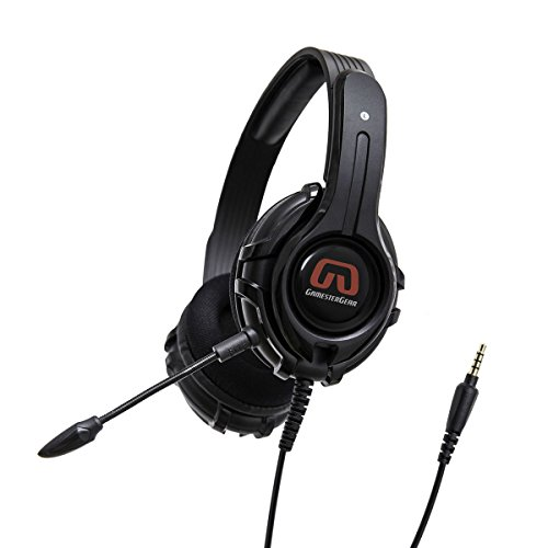 GamesterGear PC PS4 Xbox One Stereo Over-Ear Gaming Headset, Online Chat, Headphone with Detachable Micophone - iPad Mobile Tablet Mac