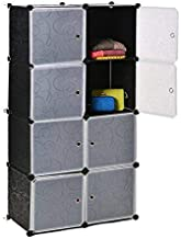 8 Cubes Black Flower Diy Storage Cabinet