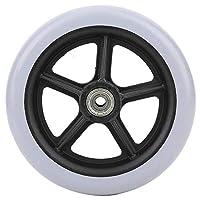 Ruedas delanteras para sillas de ruedas, rueda delantera de 6 pulgadas, ruedas de goma antideslizantes para discapacitados, reemplazo de ruedas para sillas de ruedas, andador, andadores