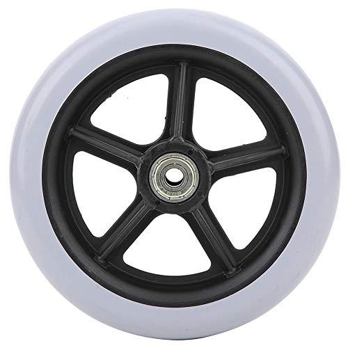 Ruedas para sillas de ruedas para discapacitados, pies de repuesto, rueda sólida gris de una sola rueda, carga máxima de 120 kg, para discapacitados