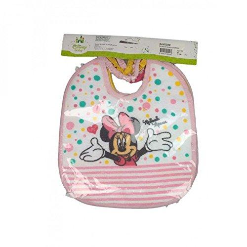 Confezione 6 pezzi bavetta bavaglino bavagli bimba neonato Disney baby Minnie TU