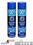 P4B 2X Scheibenenteiser Spray Dose 600 ml Sprühdose Dose Autoscheiben Scheiben Auto Enteiserspray Enteiser Schlösser Scheinwerfer Spiegel