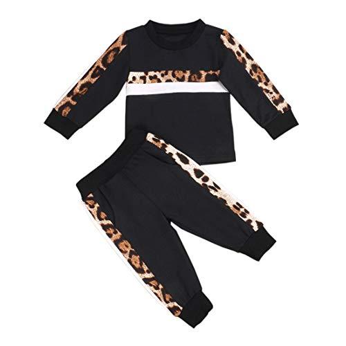 Verve Jelly Neonata del Bambino Autunno Inverno Primavera Vestiti Manica Lunga Leopard Outfit Pullover Felpa Top Legging Pantaloni 2 Pezzi Set