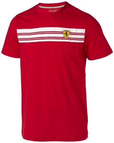 sportwear BRA5100005600230 Gestreiftes Hemd Offizielle Ferrari Red Scuderia Grösse L, rot, L