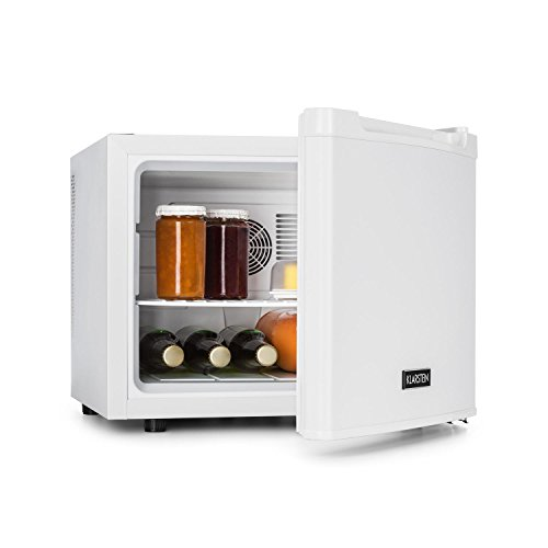 Klarstein Manhattan - Mini-Kühlschrank, Minibar, Getränkekühlschrank, 35 Liter, 3-stufiger Temperaturregler, wechselbarer Türanschlag, weiß