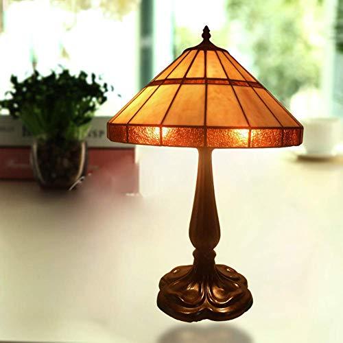 Light-YRQ Tiffany Stil Tischlampe, 15 Zoll Bestnote Klassiker Wohnzimmer Beleuchtung Glasmalerei Tisch Schreibtisch neben Lampe Schlafzimmer Nachttischlampe Nachtlicht, E27