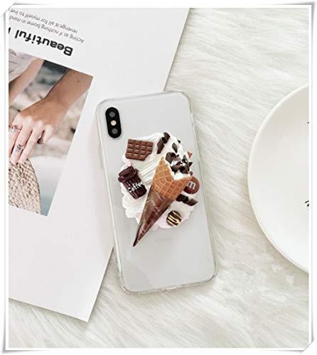 Apple mobiele telefoon shell, zomer vers ijs mobiele telefoon shell, chocolade mobiele telefoon shell, vrouwen creatieve crème mobiele telefoon shell, telefoon6/6S